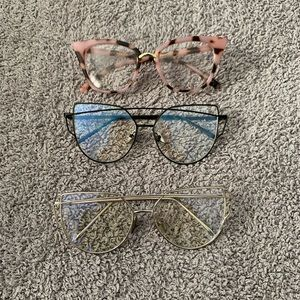 NWOT Bundle of Clear Fashion Glasses